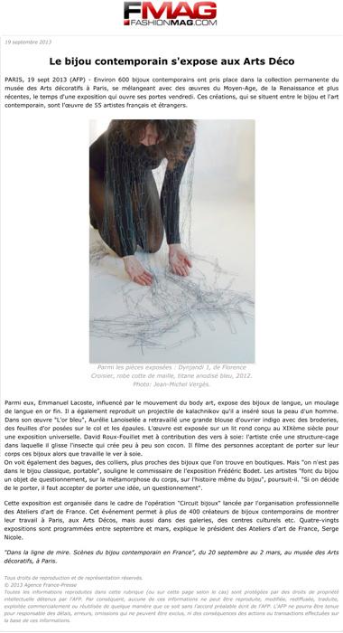 Le bijou contemporain s'expose aux Arts DŽco - ActualitŽ : Expos